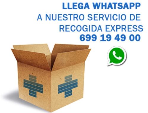 Llega Whatsapp a nuestro Servicio de Recogida Express